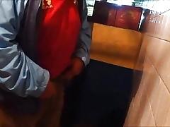 Pissing back a soak venerable panhandler