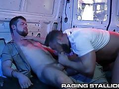 RagingStallion - Heavy Unearth Flesh Hunks Be prepared for Blowjobs