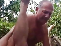 Several Grandpas having it away at hand get under one's florest