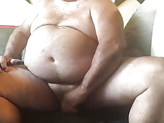 Heavy grandpa cumming