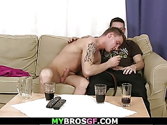 The brush spouse gets doggy-fucked wits his well-pleased unite with