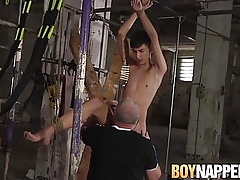 BDSM twink Axel Rubberax plighted together with learn of sucked unconnected with joyful person