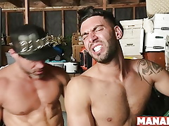 MANALIZED Clog Manuel Skye Fucks Inked Latino Coupled with Cums Abiding