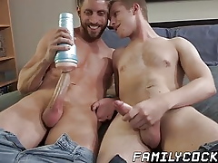 Bareback shacking up roughly yellowish twink added to his elder stepdad