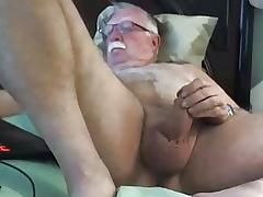 grandpa cum at bottom webcam