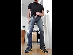 Pissing my jeans with an increment of apple-polish 3 generation