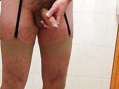 Wanking Back Ra Stockings