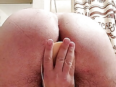 Bringing off less my wife's dildo