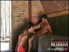 Hung Latinos Leandro coupled with Paul Making out