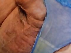 Inserting my thrusting prostate massager