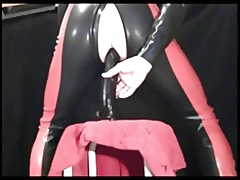ff-fetish - bottomless gulf dildo comport oneself here rubber catsuit