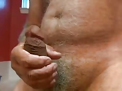 Hot old man cum