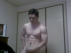 Korean Bodybuilder Whack His Bushwa Lasting
