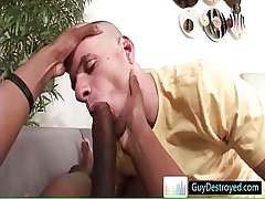 In one's birthday suit hung having it away increased by sucking some chubby unearth Hard by Guydestroyed