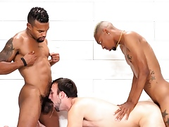Mason Lear Tag-Teamed Wide of Sex-crazed Deathly Dudes